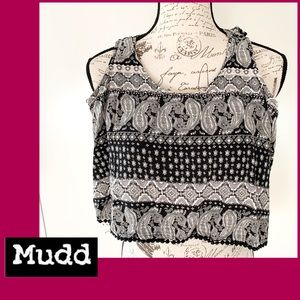 Mudd Black and White Crop Top